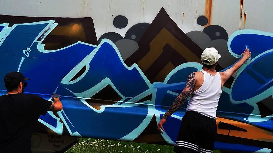 Graffiti Session: SNOK & JANEK