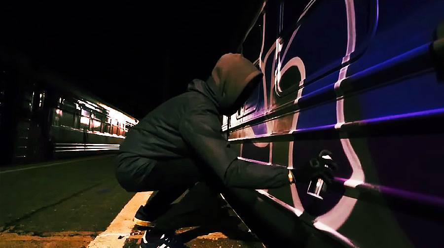 Graffiti On Trains With Sram (BEDA Crew)