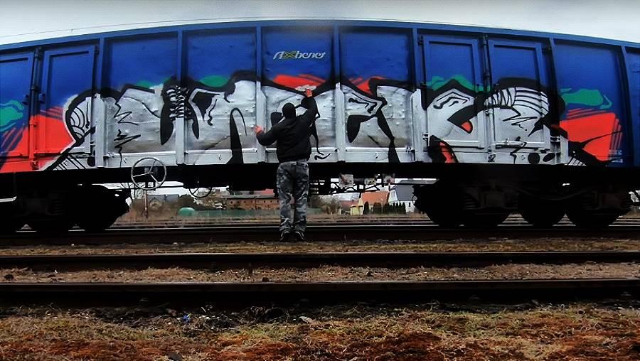 Weck — Freight Train Graffiti