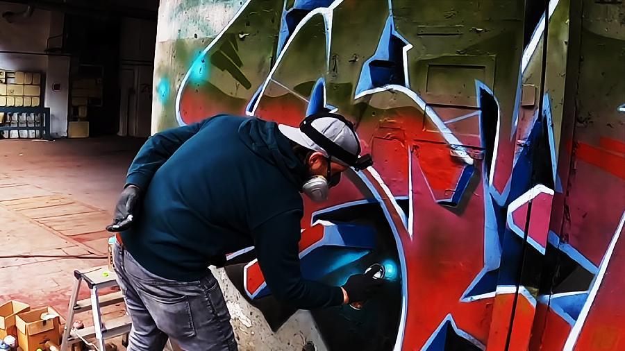 Graffiti TUTORIAL at Lost Place