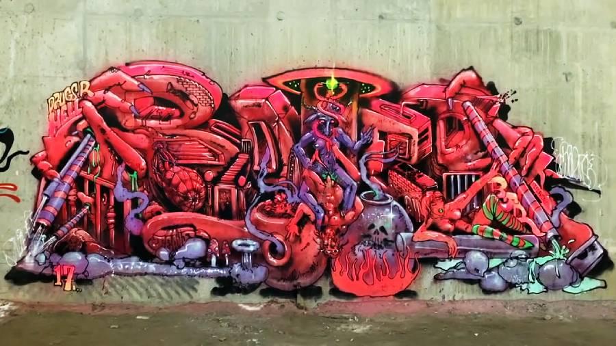 Exploring Area 51 Graffiti Tunnel