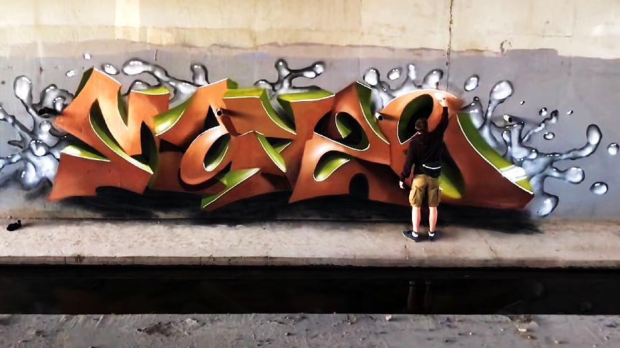 MAYZE graffiti bomb and 3d