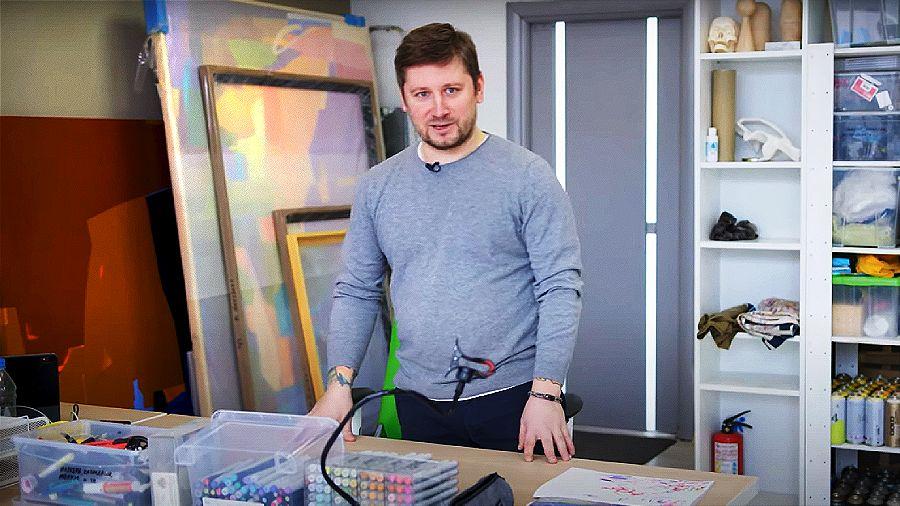 В мастерской художника Константина Zmogk