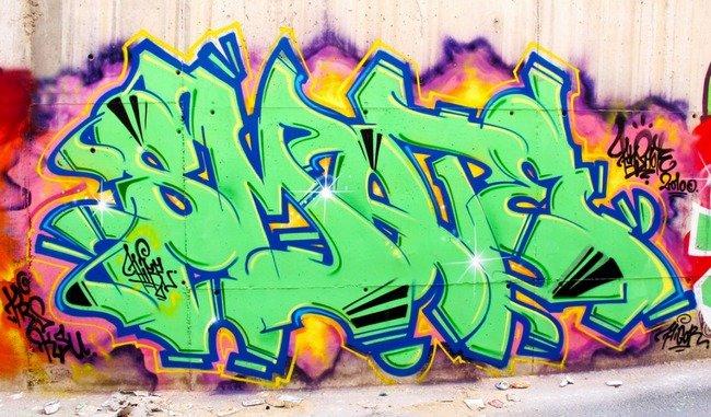 лучшие шрифты граффити: